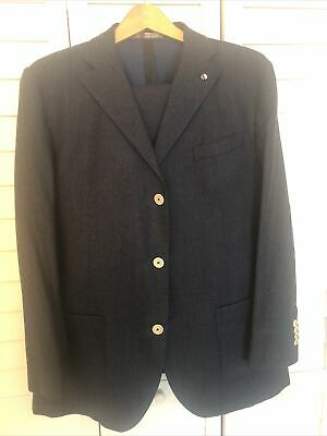 Manuel Ritz Men's Suit Navy Blue Size 54 Euro 44 US Stunning Retailed For $550
