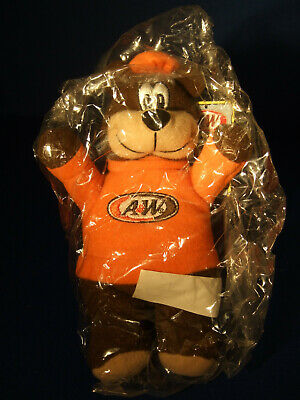 "Vintage A&W Root Beer Bear Plush - Circa 2001 - 6"" NIP"