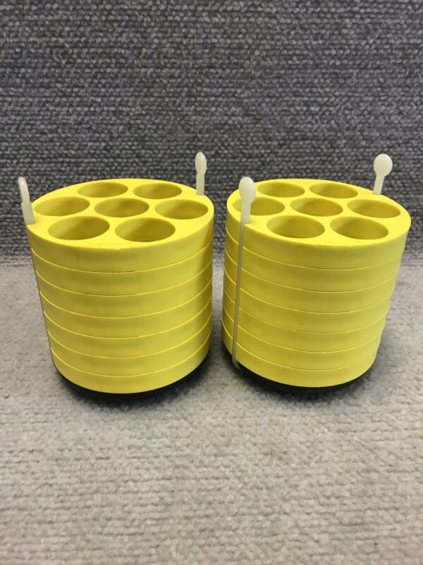 Pair of Beckman 339158 Centrifuge Rotor Swing Bucket Adapter 7 x 50 mL with Pad
