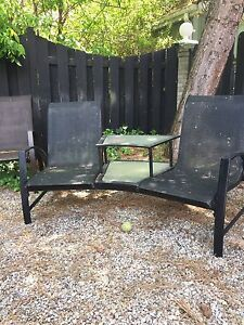 Two seater Outdoor chair with table