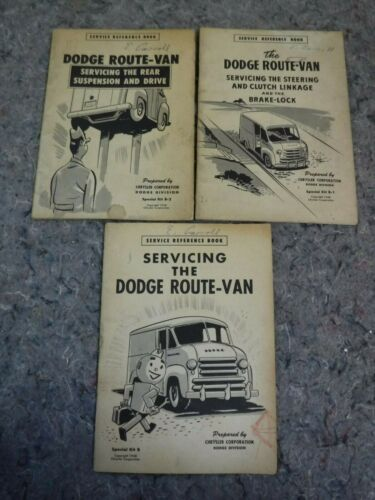 Vintage 1948 Servicing The Dodge Route Van Reference Books