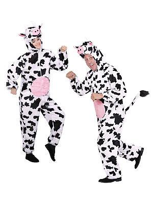 Kostüm Overall Kuh mit Euter Weiß-Schwarz