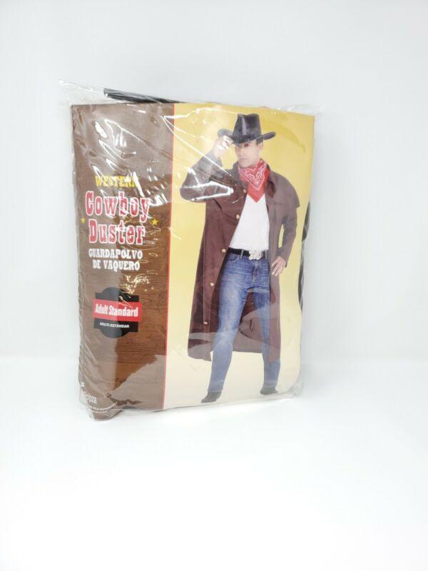 Cowboy Duster Coat Costume Adult Halloween Fancy Dress