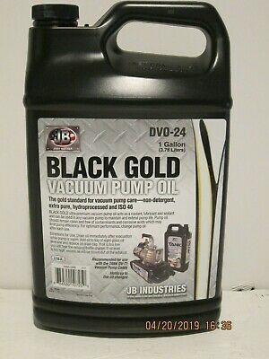 Jb Dvo-24 Black Gold Deep Vacuum Pump Oil- Gallon Free Ship New In Sealed Jug