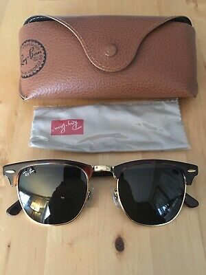 Ray Ban Clubmaster Aviator Model Sunglasses RB 3016 W0366 49/21 3N w/Case (Ray Ban Aviator Model)