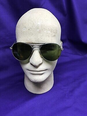 Vintage Aviator Style Sun Glasses Unknown Manufacturer Military Grade.Retro (Sunglass Manufacturers)