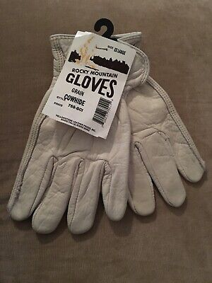 Large Mens Cowhide Glove (Rocky Mountain Gloves - cowhide. Men's extra large. White. )