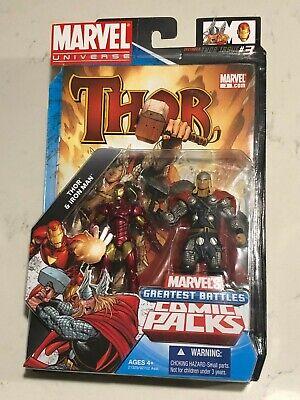 MARVEL UNIVERSE GREATEST BATTLES COMIC PACKS THOR vs  IRON MAN ACTION FIGURE (Ironman Vs Thor)