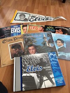 Elvis collection. 9 albums, concert pendant and Elvis treasury