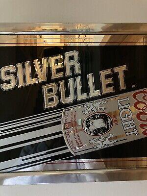 "Vintage 1990 Coors Light Silver Bullet 18"" x 13"" Advertising Mirror Bar Sign"