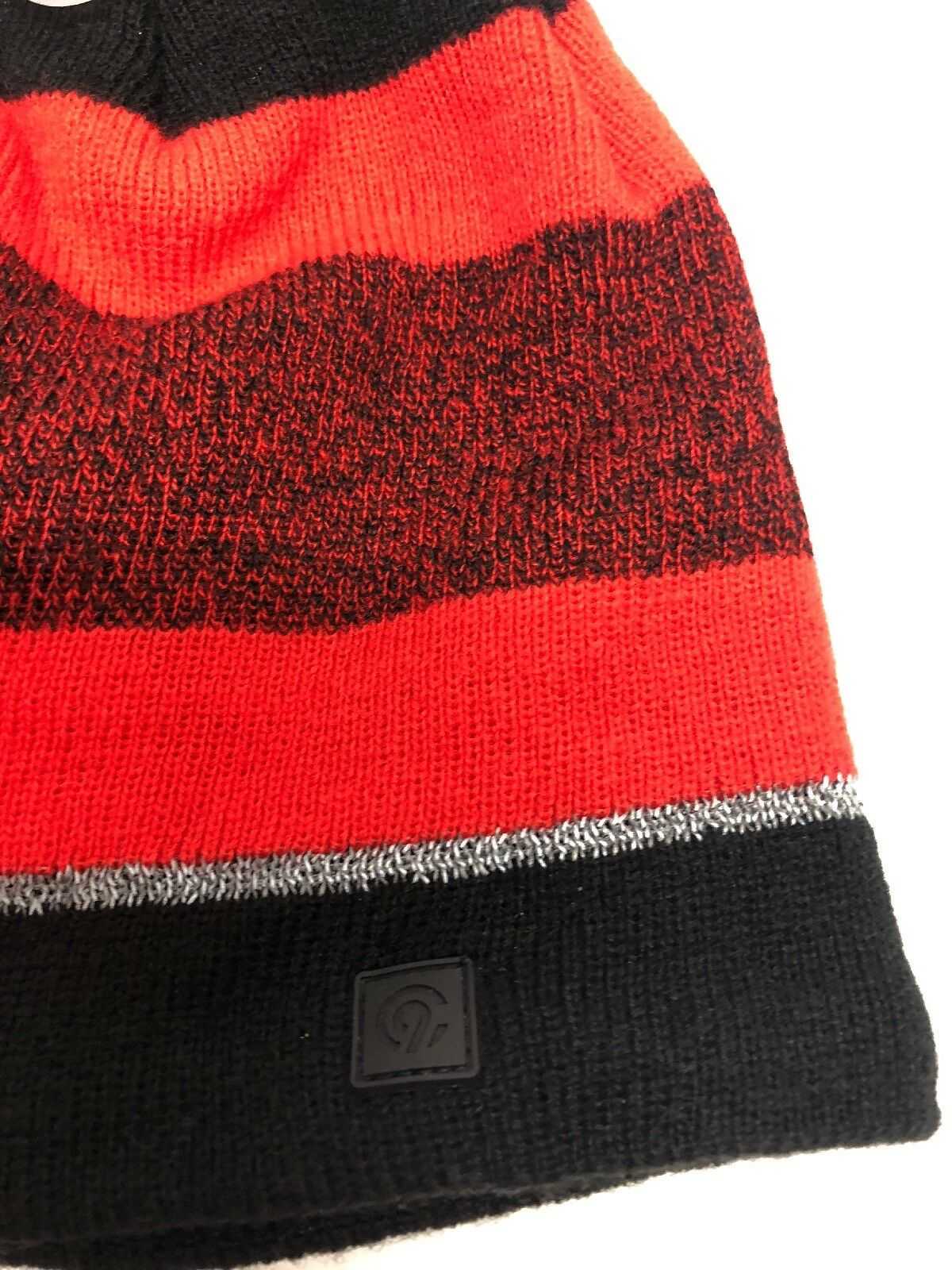 ee58bf71663cd NWT Champion C9 Red Striped Pom Hat Mens Reflective One Size