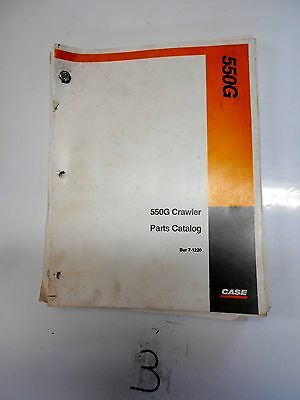 Original Case 550g Crawler Parts Catalog Bulldozer Loader Bur 7-1220