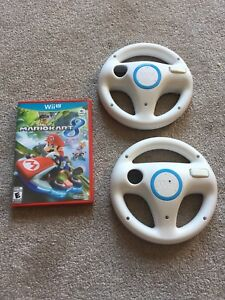 Wii-U Mario Kart 8 with 2 Racing Wheels