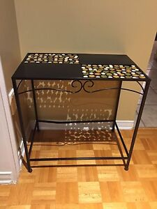 Small decorative metal table
