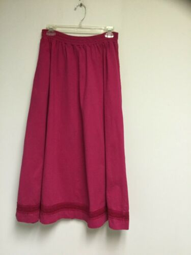 French Navy Pink Skirt Size M