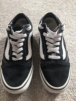 Vans Black And White Size 3..IMMACULATE..
