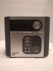 TIMEX T617S Dual Alarm Clock Radio with Nature Sounds Snooze CD & MP3 line in