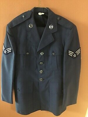 VINTAGE USAF AIR FORCE VINTAGE DRESS BLUE UNIFORM GREAT  CONDITION JACKET/PANTS