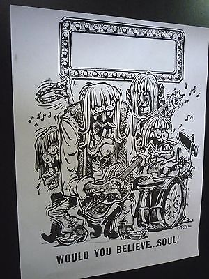 Rat Fink Ed Big Daddy Roth 1966 WOULD YOU BELIEVE SOUL POSTER sheet