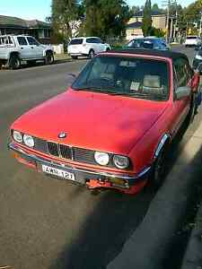 BMW E30 1990 325I RED CONVERTIBLE Georges Hall Bankstown Area Preview