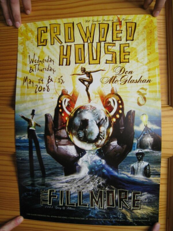 Crowded House Poster Don McGlashan Fillmore May 14-15 2008 Neil Finn