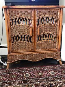 Vintage Wicker cabinet!