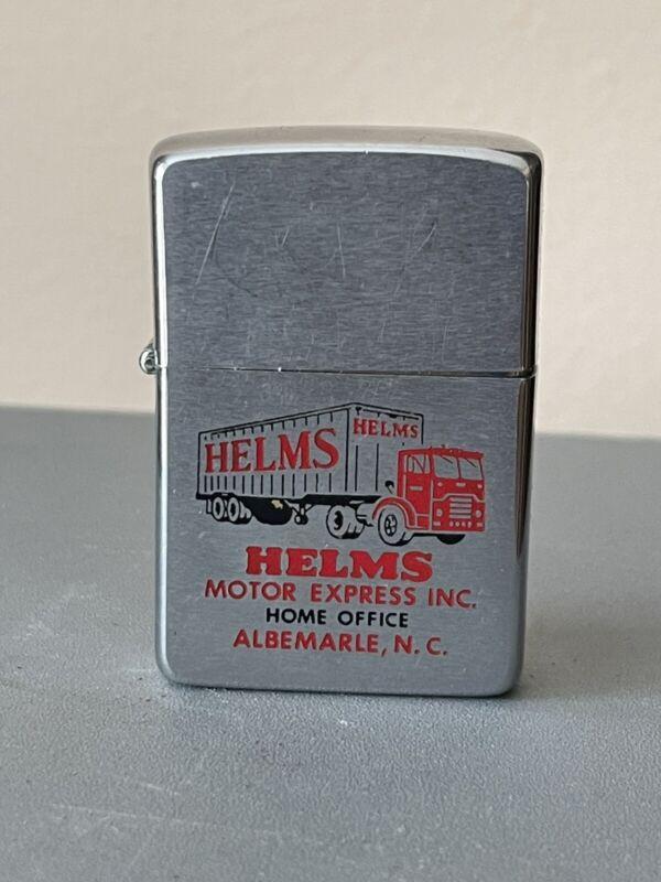 ZIPPO 1963 HELMS MOTOR EXPRESS TRUCKING ALBEMARLE, NC Lighter 🔥 L52