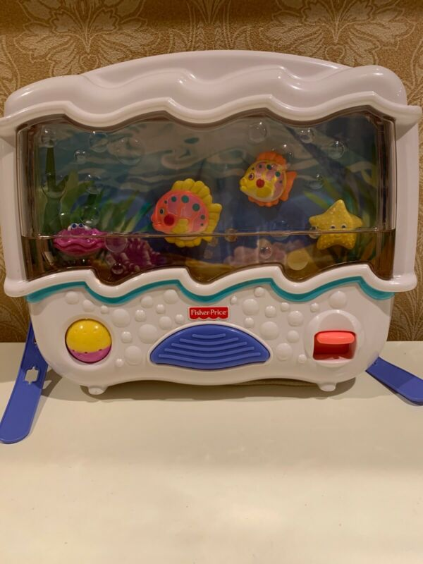 Fisher Price Ocean Wonders Aquarium Infant Baby Nursery Crib Soother  VGUC!