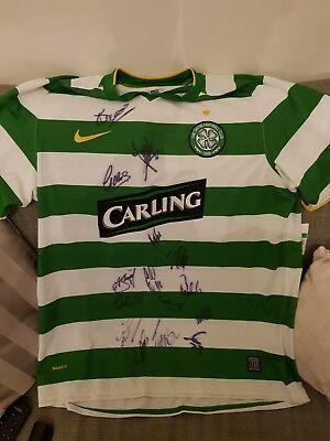Signed Celtic 08/10 Home Shirt Autograph Jersey Memorabilia