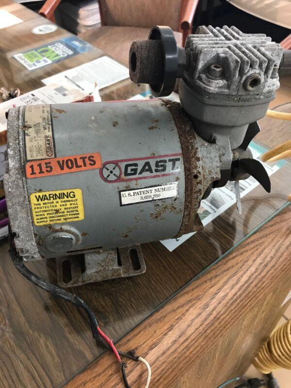 Gast Pump 1HAB-17-M100X Vacuum Pump W/GE Motor 115V, 1/6HP, 1725RPM