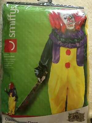 Classic Horror Clown Costume New in Package Adult Size Large](Classic Horror Costumes)