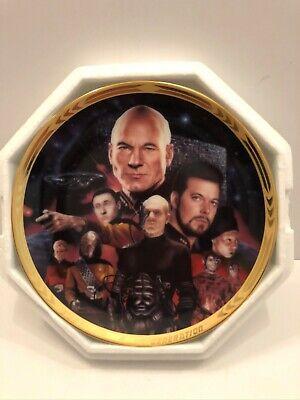 STAR TREK TNG Hamilton Plate Episodes The Best of Both Worlds 1994 w/COA NEW (Best Star Trek Tng Episodes)
