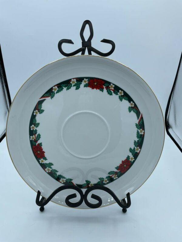 Tienshan Fine China Deck The Halls Plate, 11""