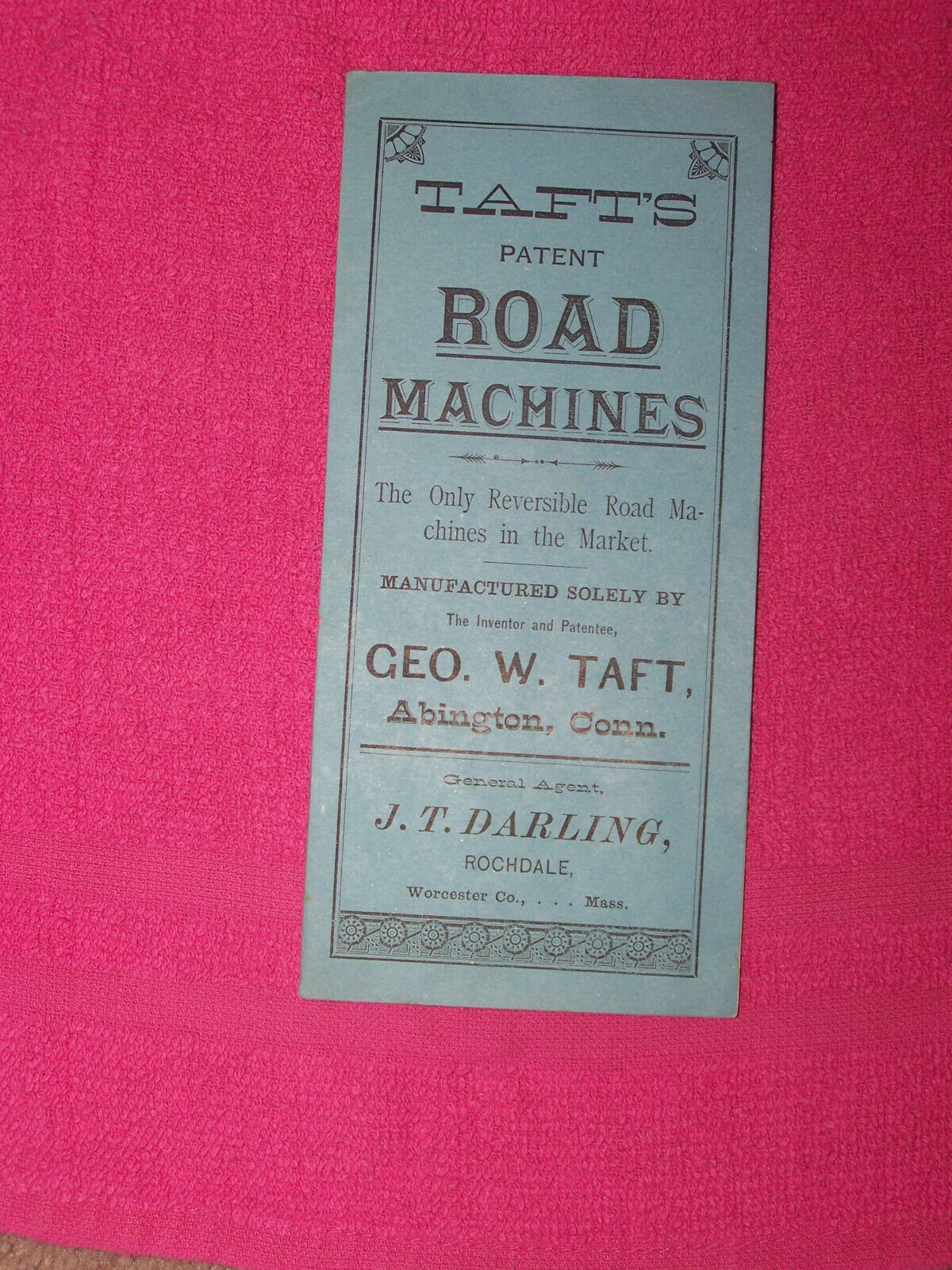 Vintage Taft's Road Machines catalog Abington Conn. USA 27 pages 3 x 6