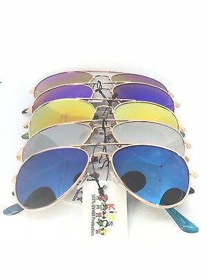 Aviator Sunglasses For Kids (KIDS  junior size unisex AVIATOR sunglasses mirror Toddler Children's baby)