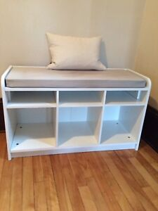 White bench with storage $40 OBO (reduced from $50)