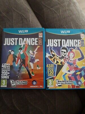 Wii u just dance 2016 and 2017 pair bundle