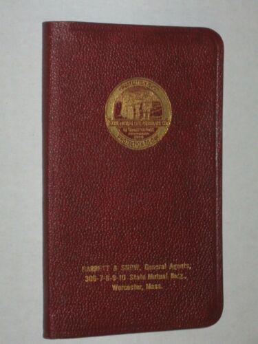 State Mutual Life Insurance- Vintage 1918 Calendar Pocket Booklet - Worcester MA
