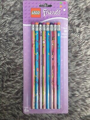 Lego Friends Pencils 8 Pack Brand New
