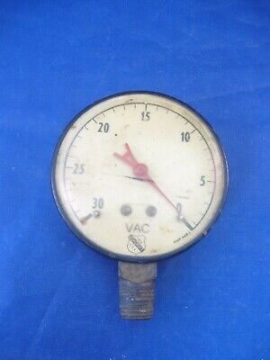 Antique Vac Meter Of Some Sort Ashcroft 1850 Usa Amp 6683