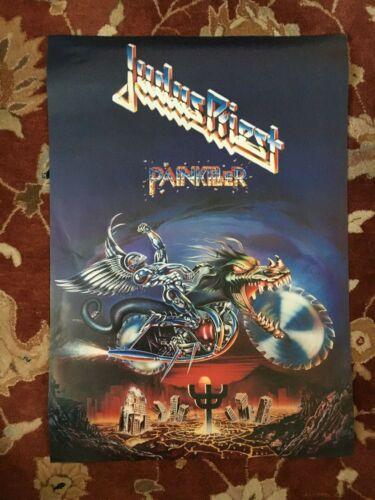 JUDAS PRIEST  Painkiller  rare original 2-sided promotional poster