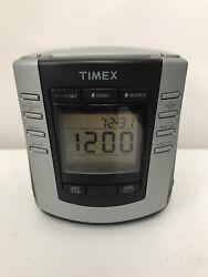 Timex Digital AM FM Alarm Clock Radio Auto Black Model T301B