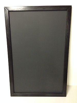 Menu Announcement Black Chalkboard 24 X 48 Black Hardwood Frame Display