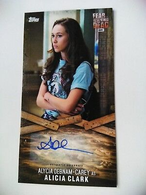 FEAR THE WALKING DEAD Widevision Alycia Debnam-Carey Alicia  Autograph AUTO card