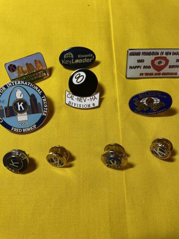 Lot Of 10 Vintage To Now Kiwanis Pins