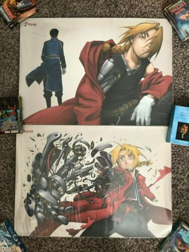 Set of 2 Full Metal Alchemist 72x51cm DVD Release Promo Poster Official Japan
