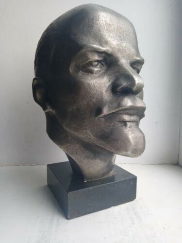 Big bust  Soviet Russian leader LENIN metal bust statue sculpture USSR