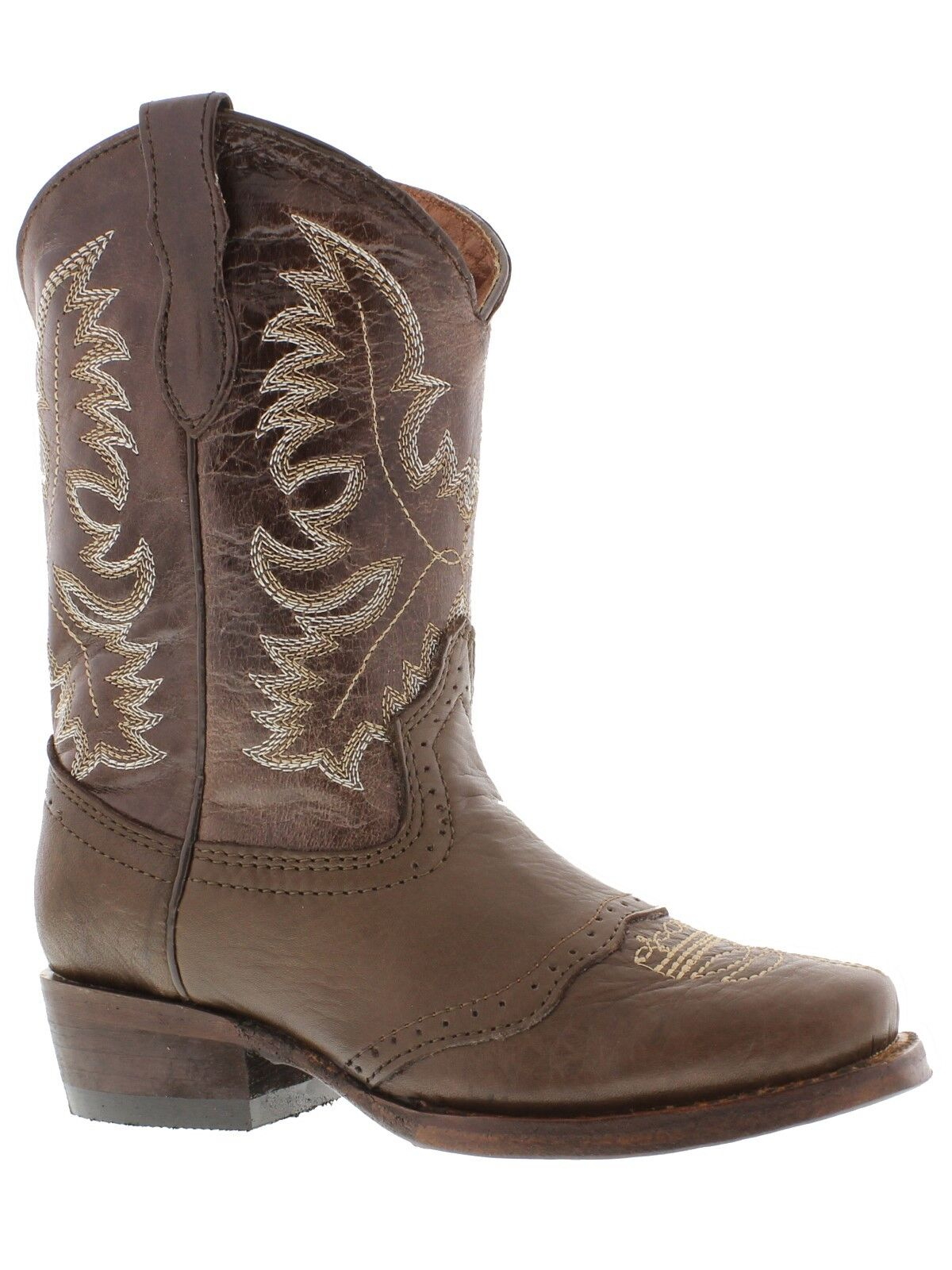 Veretta Childrens Brown Saddle Cowboy Boots Youth Boys Western Rodeo Square Toe 1