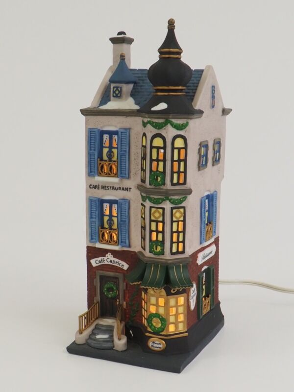 Dept 56 Heritage Christmas in the City CAFE CAPRICE FRENCH RESTAURANT 5888-2 /c