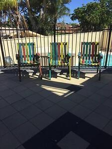 3 x Solid wood, large 'boatwood'/ 'caribbean' style armchairs Hillarys Joondalup Area Preview